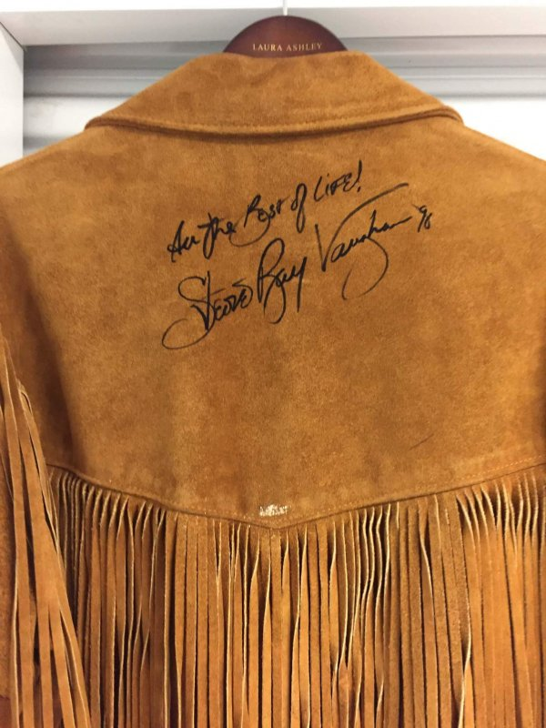 stevie ray vaughan signed jacket