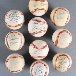 1960 New York Yankees & Pittsburgh Pirates Multi-Signed Baseball Lot (10) - JSA
