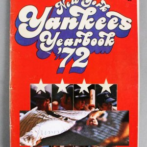1972 New York Yankees Multi-Signed Program - Thurman Munson, Elston Howard etc - JSA Full LOA