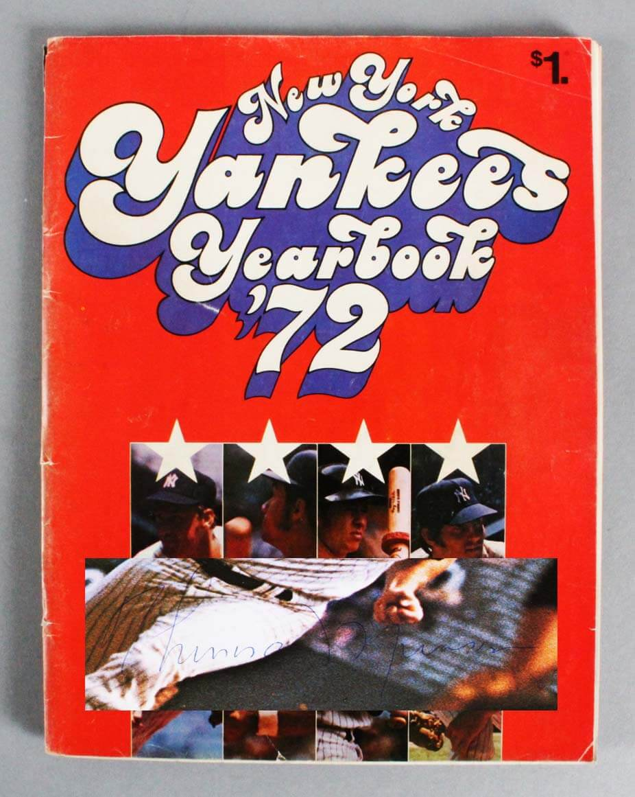 1972 New York Yankees Multi-Signed Program - Thurman Munson, Elston Howard etc - JSA Full LOA