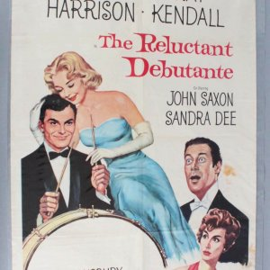 RELUCTANT DEBUTANTE Movie Poster 1sh '58 Rex Harrison- Sandra Dee