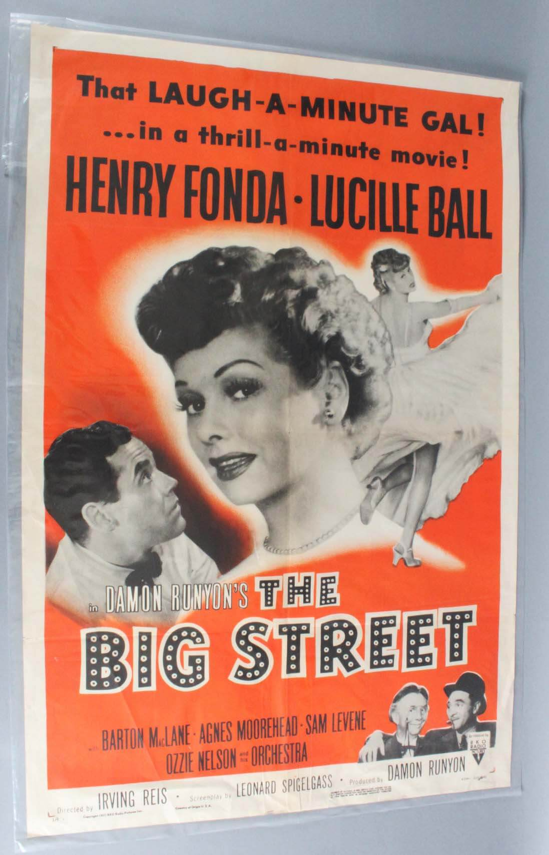 BIG STREET style A One Sheet Movie Poster R55/189