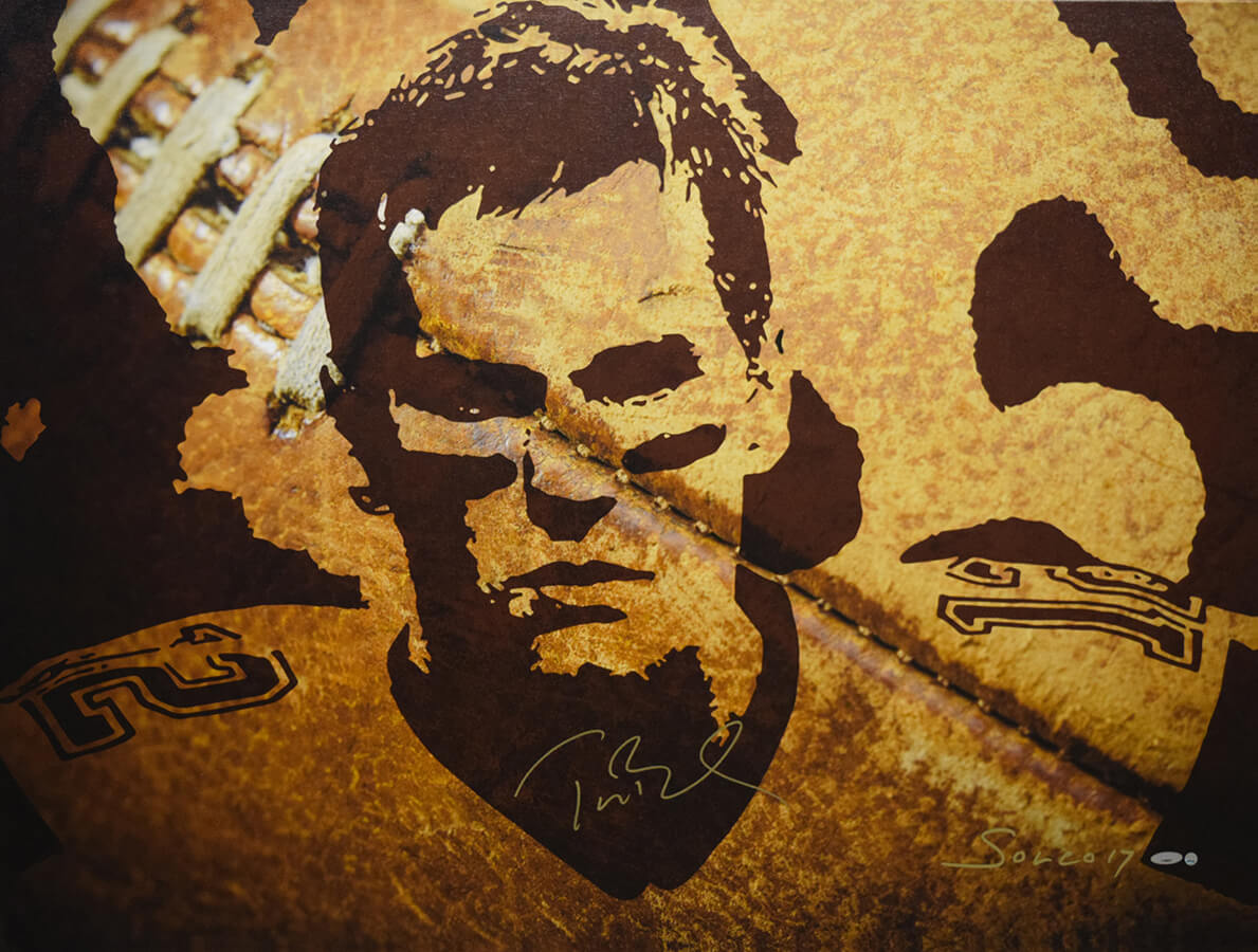 Signed Tom Brady Limited Edition Print on Canvas / COA / Patriots Signature