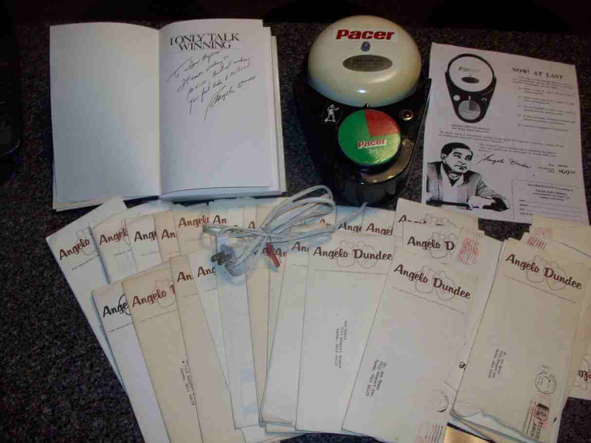 Angelo Dundee Letters, Gym Bell and Signed Book...