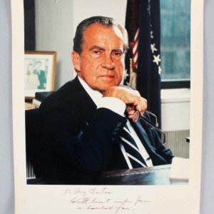 President Richard Nixon Signed & Inscribed  8x10 Photo - JSA Full LOA
