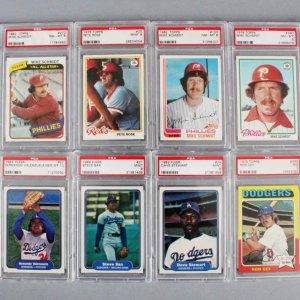 MLB Baseball PSA Graded Card Lot (12) - Pete Rose, Mike Schmidt, etc.