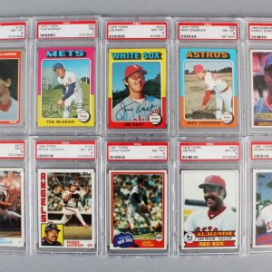 MLB Baseball PSA Graded Card Lot (10) - Roger Clemens (RC), Darryl Strawberry (RC), etc.