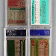 MLB Baseball PSA Graded Card Lot (10) - Roger Clemens (RC), Darryl Strawberry (RC), etc.