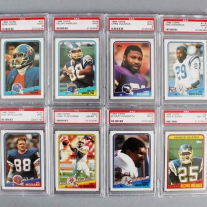 1988 Topps Football PSA Graded Card Lot (11) - Dan Marino, Eric Dickerson, Vinny Testaverde Rookie etc.