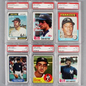 MLB Baseball PSA Graded Card Lot (6) - Carlton Fisk, Thurman Munson, etc.