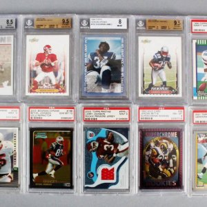 NFL Football Graded Rookie Card Lot (10) - Emmitt Smith, LaDainian Tomlinson, etc.