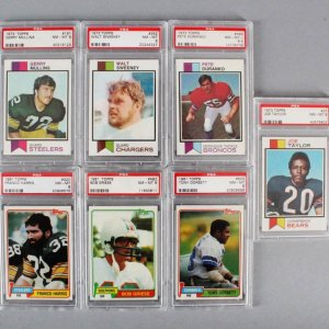 NFL Football PSA Graded Card Lot (7) - Bob Griese, Tony Dorsett, etc.