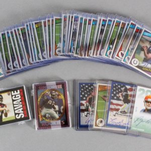NFL Football Card Lot w/ (2) Subsets - Andrew Luck (RC), Derek Carr (RC), Russell Wilson (RC), etc.
