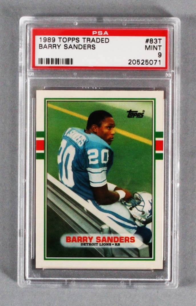 1989 Topps Traded Barry Sanders Graded Rookie Card