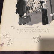 Arv Miller Fling magazine 1971 Watercolor Original Art Signed By Don Margolis