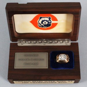 Chicago Bears Super Bowl XX Extrememly Large Salesman Sample Ring - William Perry