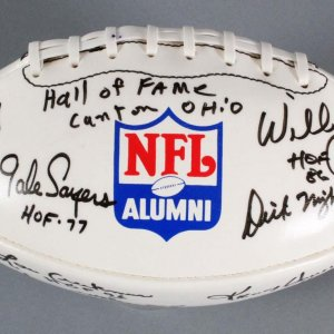 HOF Football Signed by Blount, Bednarick, Hendricks, Deacon, Knoll + others