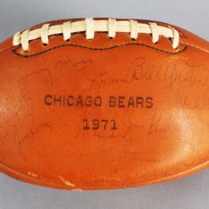 1971 Chicago Bears Team-Signed Football - JSA Full LOA