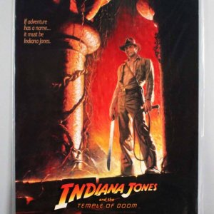 1984 INDIANA JONES & THE TEMPLE OF DOOM One Sheet Movie Poster -1sh
