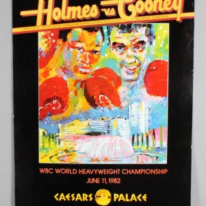 March 15, 1982 - Larry Holmes vs. Gerry Cooney Caesars Palace Fight Poster
