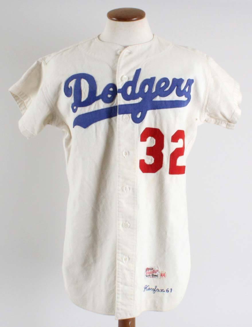 ... netherlands 1961 sandy koufax game worn los angeles dodgers jersey  memorabilia 6d6e4 bc5fa 70a537210