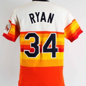 1986 Nolan Ryan Game-Worn Houston Astros Jersey Grade: 13/20