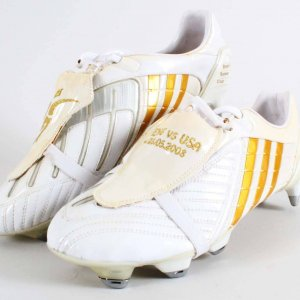 David Beckham Sample-Commemorative Warm-up Boots - 5/28/05 International Friendly vs. USA