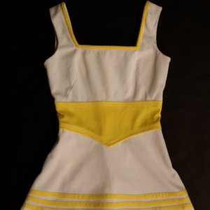 A Chrissie Evert Game-Used Custom Mondessa Tennis Dress.  Includes 3 Signed Photographs.  (Circa 1970-72).
