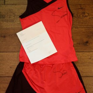 A Serena Williams Game-Used & Signed Custom Nike Tennis Outfit.  2009 WTA Tour Championship Doha (Singles Champion).  Williams Morris Agency LOA.