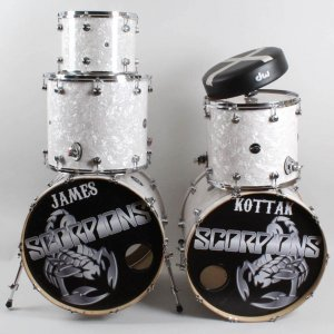 James Kottak Stage-Used Scorpions Drum Set 2015-16 Tour