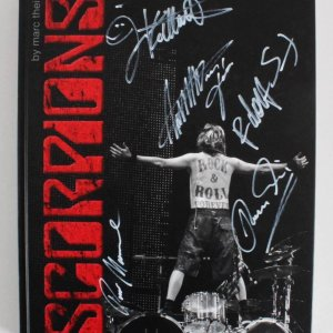 Scorpions Signed Book by All Band Members - JSA