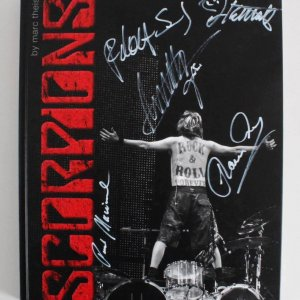 Scorpions Signed Book by All Band Members - COA JSA