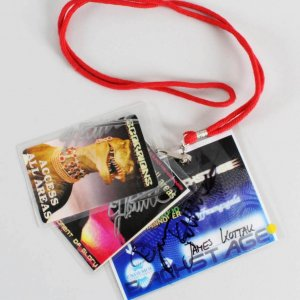 James Kottak Signed Scorpions Backstage Passes (3) 2000 Hurricane Tour, Moment of Glory & Hannover Expo