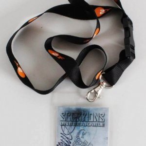 James Kottak Signed Scorpions Backstage Pass 2004-06 Unbreakable World Tour
