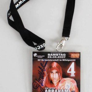 James Kottak Scorpions Signed Backstage Pass 2007 Boxing Event Abraham vs. Demers