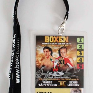 James Kottak Scorpions Signed Backstage Pass 2010 Boxing Match Marco Huck vs. Denis Lebedev