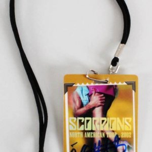 James Kottak Signed Scorpions Backstage Pass 2002 North American Tour