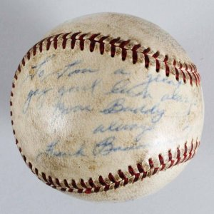 Frank Baumann Boston Red Sox Signed OAL (Harridge) Baseball - COA JSA