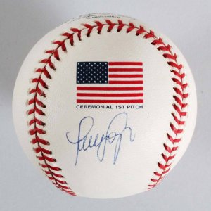 Luis Sojo New York Yankees Signed 2001 WS Baseball - COA JSA