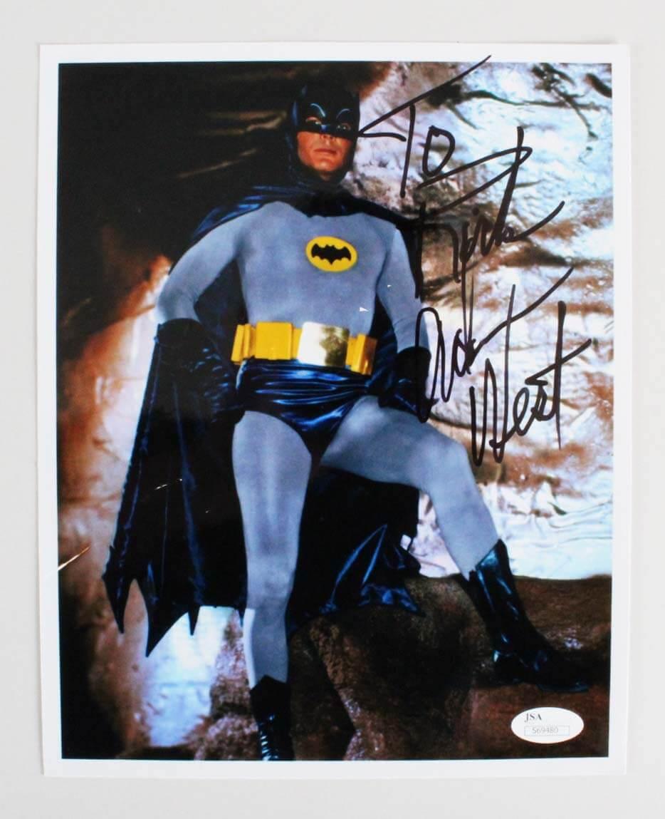 Adam West Signed 8x10 Batman Photo - COA JSA