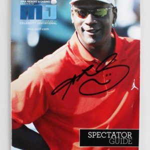 Sugar Ray Leonard Signed Golf Program Michael Jordan Celebrity Invitational - COA JSA