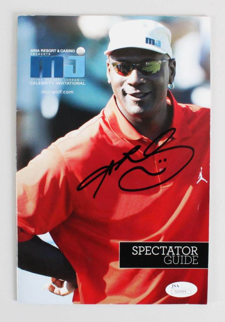 Sugar Ray Leonard Signed Golf Program Michael Jordan Celebrity Invitational - COA JSA