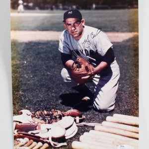 Yogi Berra Signed New York Yankees 8x10 Photo - COA JSA