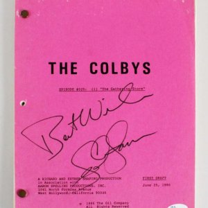 "John James Signed ""The Colbys"" TV Script - COA JSA"