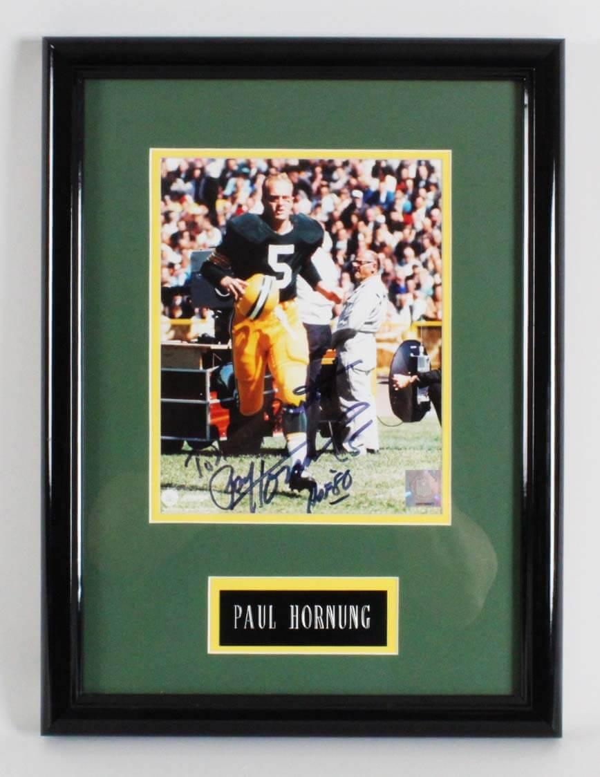 Paul Hornung Signed Photo Display Packers - COA JSA