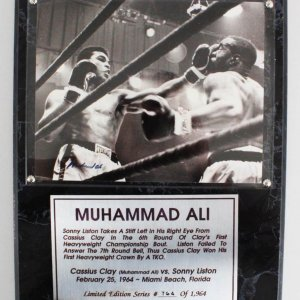 Muhammad Ali Signed 8x10 Photo LE 764/1964 Plaque Display - JSA Full LOA