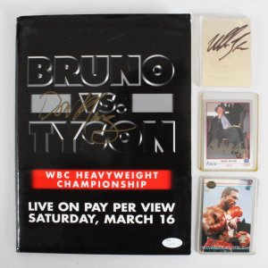 Mike Tyson, Evander Holyfield, Don King & Bert Sugar Signed Boxing Lot - COA JSA