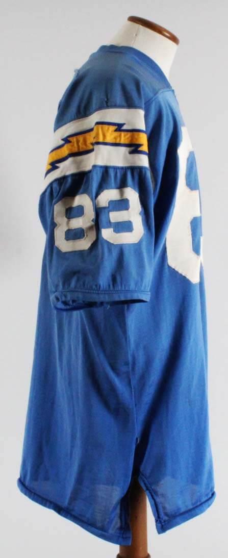 1970 Willie Frazier Game-Worn San Diego Chargers Jersey Grade 16 20- 100%  Team   Provenance 2dea02a80