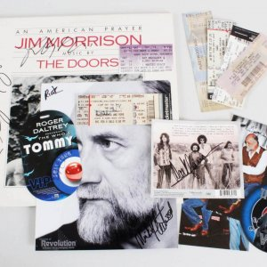 Rock n' Roll Multi-Signed Lot-Ray Manzarek, Mick Fleetwood, Daltery  - JSA