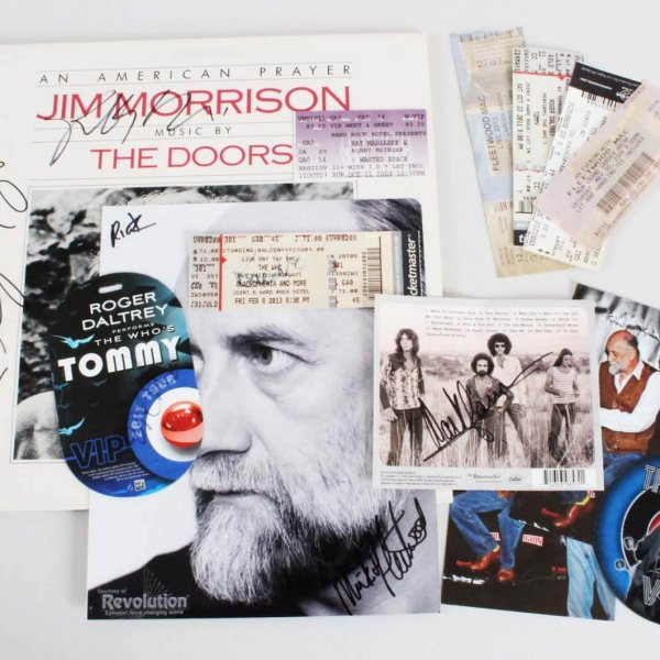 Rock n' Roll Multi-Signed Lot-Ray Manzarek, Mick Fleetwood, Daltery  - JSA